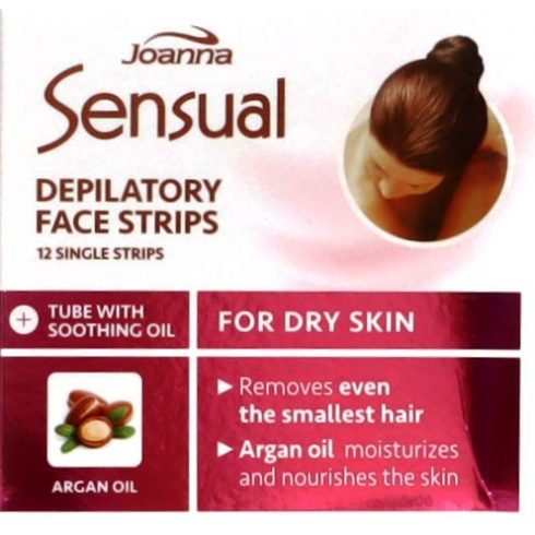 Joanna Sensual szőrtelenítő szalag arcra száraz bőrre 12db