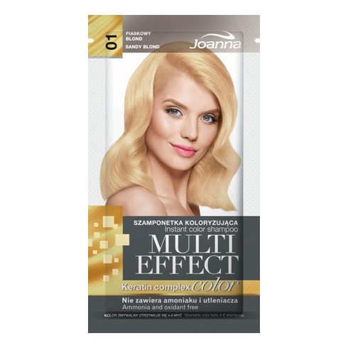 Joanna Multi Effect kimosható hajszínező 01 HOMOK SZŐKE 35g