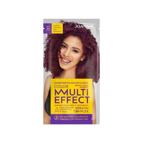 Joanna Multi Effect kimosható hajszínező 07 BURGUNDI MÉLYVÖRÖS 35g