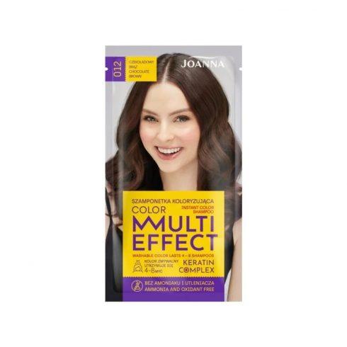 Joanna Multi Effect kimosható hajszínező 012 CSOKOLÁDÉ BARNA 35g