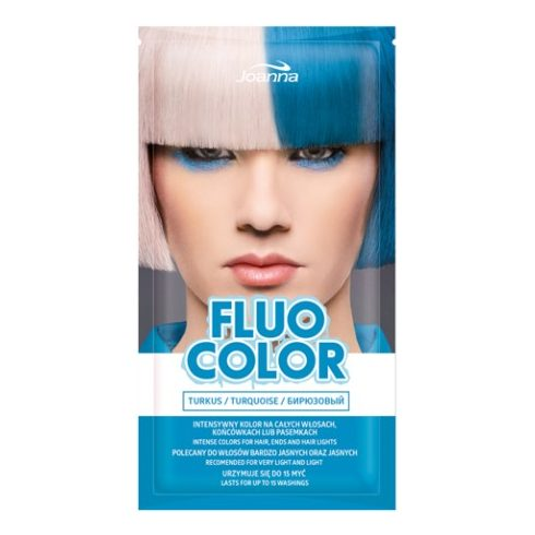 Joanna Multi Effect kimosható hajszínező FLUO COLOR TÜRKIZ 35g