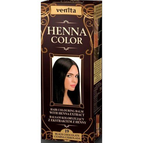 Venita Henna Color hajszínező balzsam 19 Fekete csokoládé 75ml