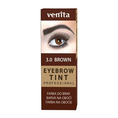 Henna Color szemöldök-szempilla festék por+emulzió barna