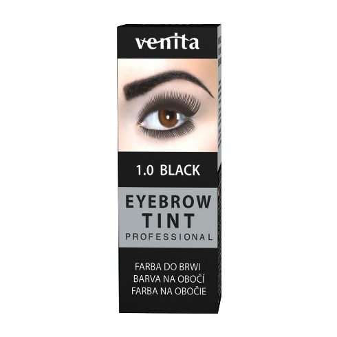 Henna Color szemöldök-szempilla festék por+emulzió fekete