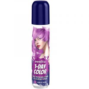 1-Day Color hajszínező spray lila (violet aura) 50ml