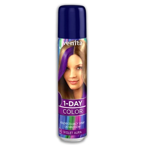 1-Day Color hajszínező spray lila (violet aura) 50ml
