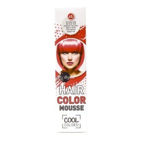 Élysée hajszínező hab pipacs vörös (45) 75ml