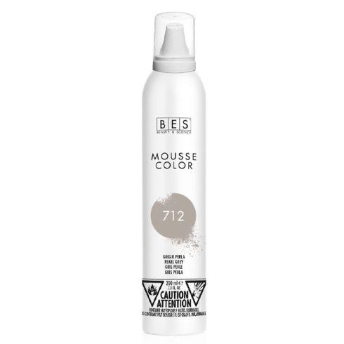 BES Mousse Color 712 (gyöngyszürke) színezőhab 200ml