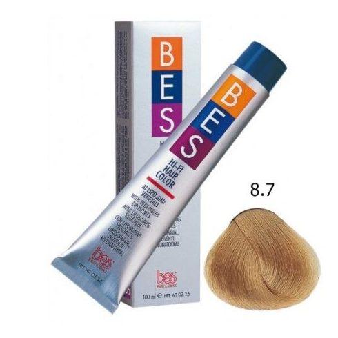 BES HI-FI hajfesték 8.7 világos dohányszőke 100ml