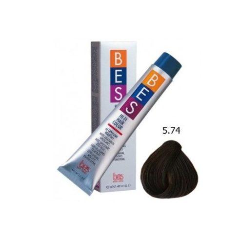 BES HI-FI hajfesték 5.74 rézvörös dohánybarna 100ml