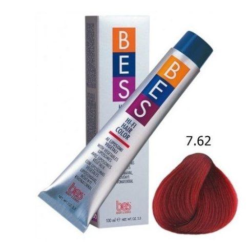BES HI-FI hajfesték 7.62 hamvas szőkés vörös 100ml