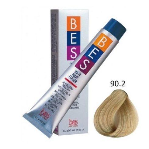 BES HI-FI hajfesték 90.2 lilás szupervilágosító szőke 100ml